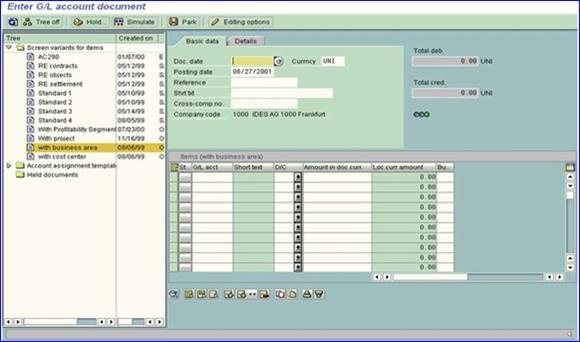 Perlakuan suatu transaksi di ERP SAP FICO