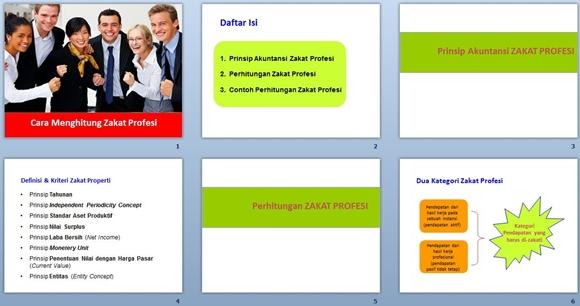 slide presentasi menghitung zakat profesi