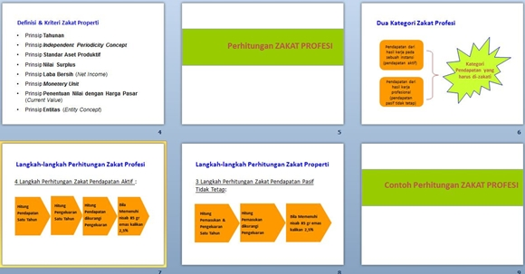 contoh slide presentasi menghitung zakat profesi