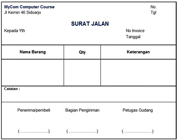 Created For Just One Purpose Contoh Surat Jalan Barang