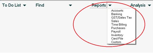 Cara 2 - Membuat Report di Myob