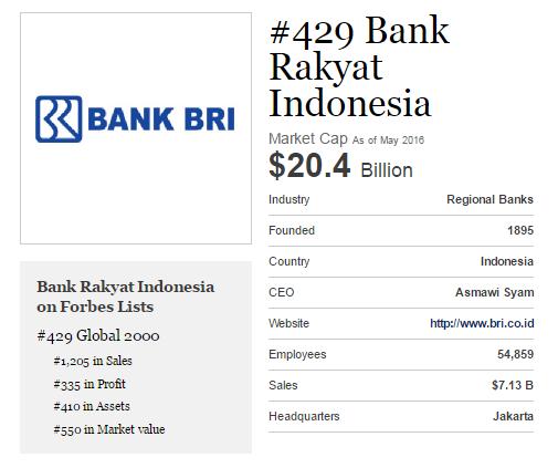 Kinerja Keuangan BRI tahun 2015