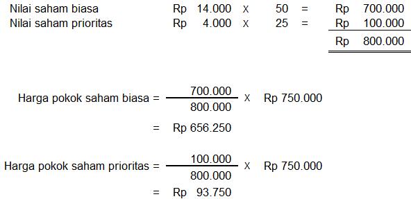 perhitungan pembagian dividen dengan pembelian saham berbeda