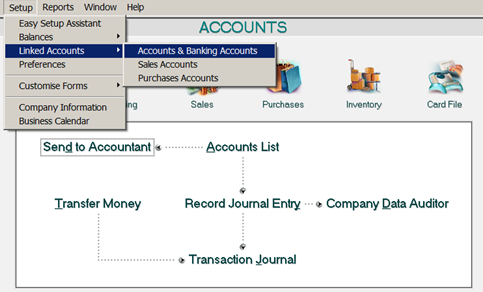 Accounts dan Banking Accounts