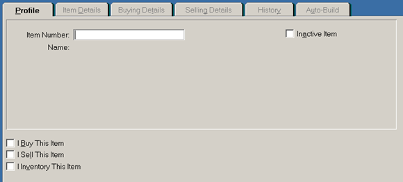 input data barang di MYOB