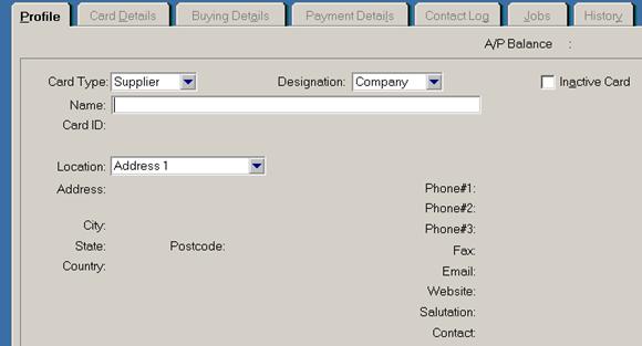 siklus akuntansi - memasukkan data supplier di MYOB