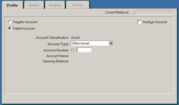 siklus akuntansi - membuat akun baru di MYOB