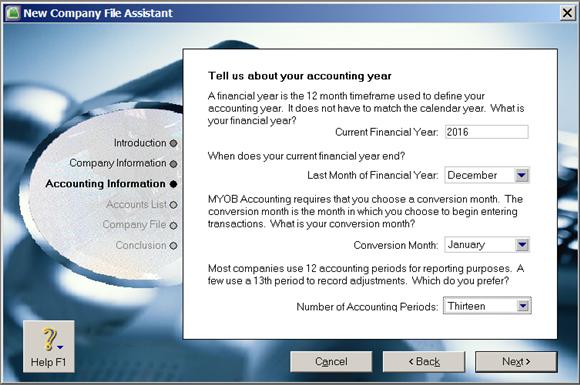 menentukan periode akuntansi di MYOB