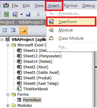 langkah 1 - membuat form input data