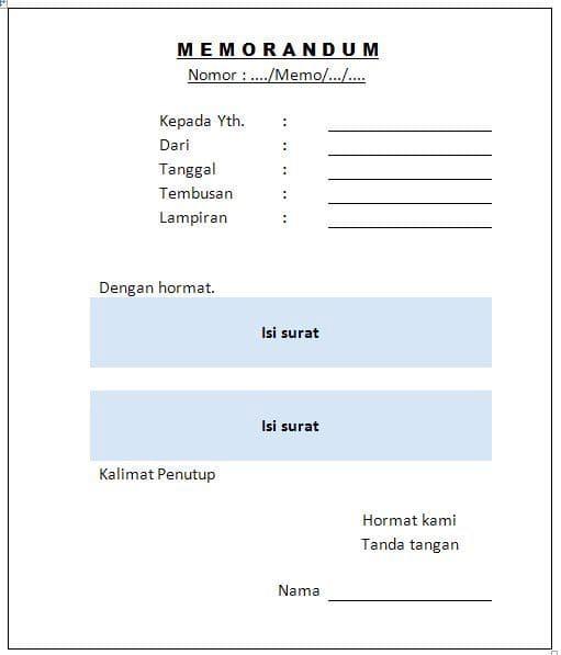 memorandum-lay-out