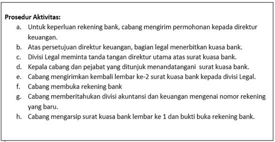 Contoh SOP Buka Rekening - Cabang.prosedur