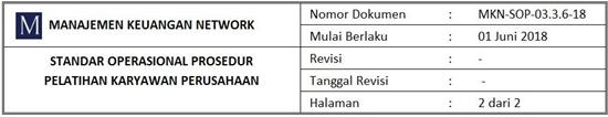 Contoh SOP Pelatihan Karyawan Perusahaan - header 2