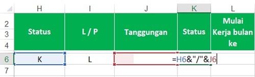 Tabel Menghitung PPh 21 - Kolom 9