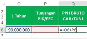 Template Perhitungan PPh 21 - kolom 15