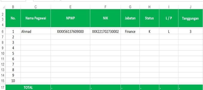 Template Menghitung PPh 21 - 1.1