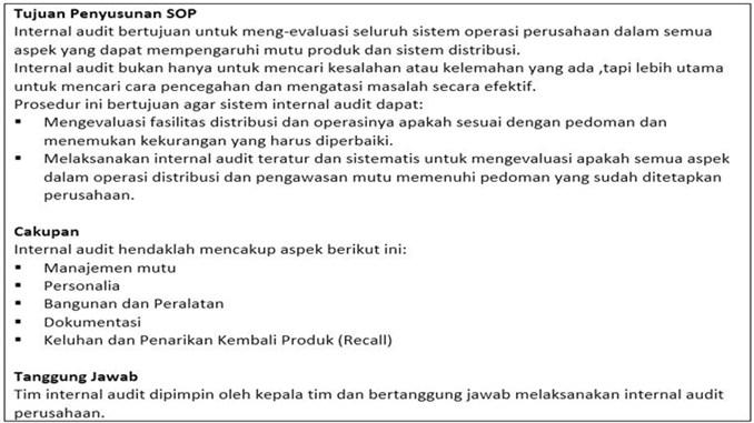 contoh sop internal audit - Bagian Utama.1