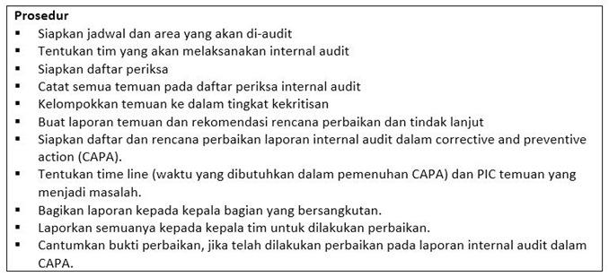 contoh sop internal audit - Bagian Utama.2