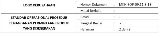 Contoh SOP Penanganan Permintaan Mendesak- header.2