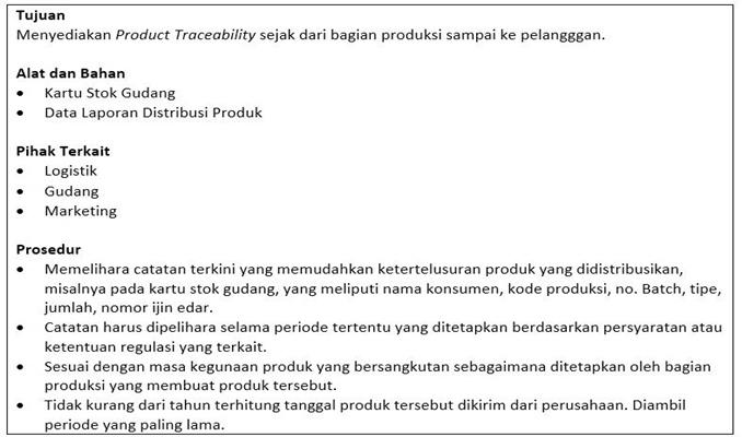 contoh sop product traceability - Bagian Utaman.1