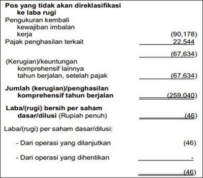 contoh format laporan keuangan