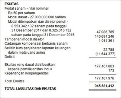 sebutkan jenis laporan keuangan dalam perseroan terbatas (pt)