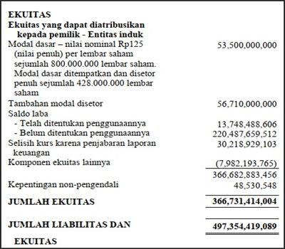 contoh laporan keuangan dengan excel