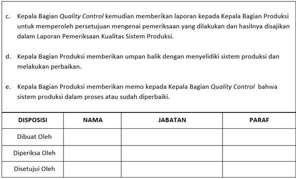 Contoh SOP Produksi - Sistem Produksi