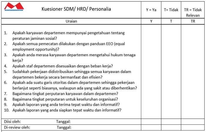 Kuesioner SDM