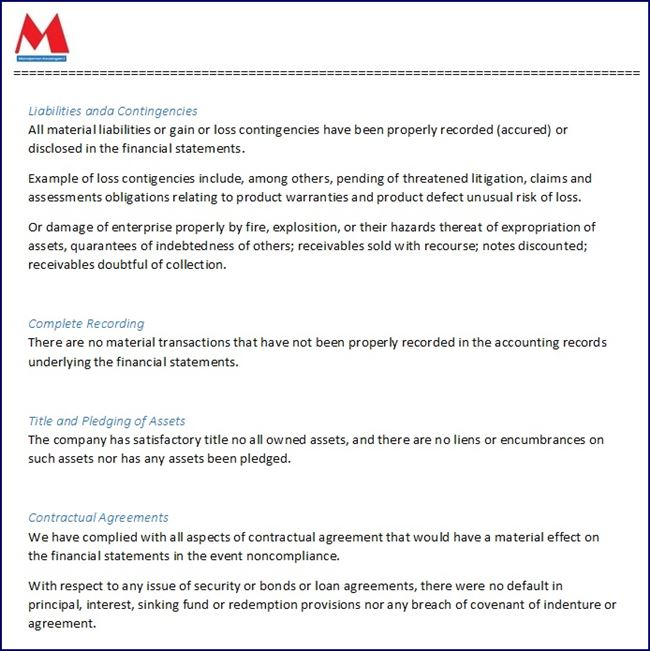 contoh surat pernyataan perusahaan - bahasa Inggris