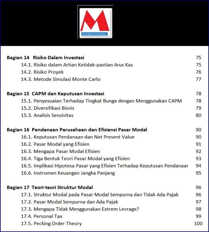 Daftar Isi Risiko Investasi