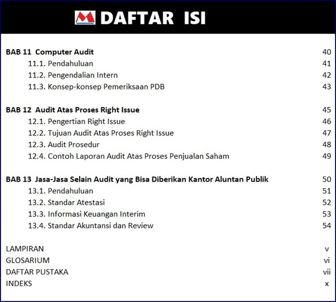 Daftar Isi Buku Auditing