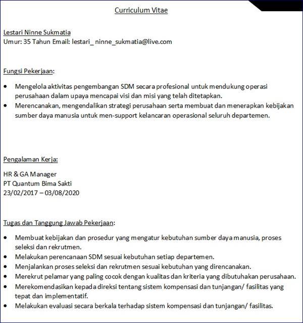 download format cv kosong pdf