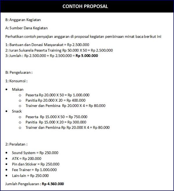 Proposal Anggaran Kegiatan