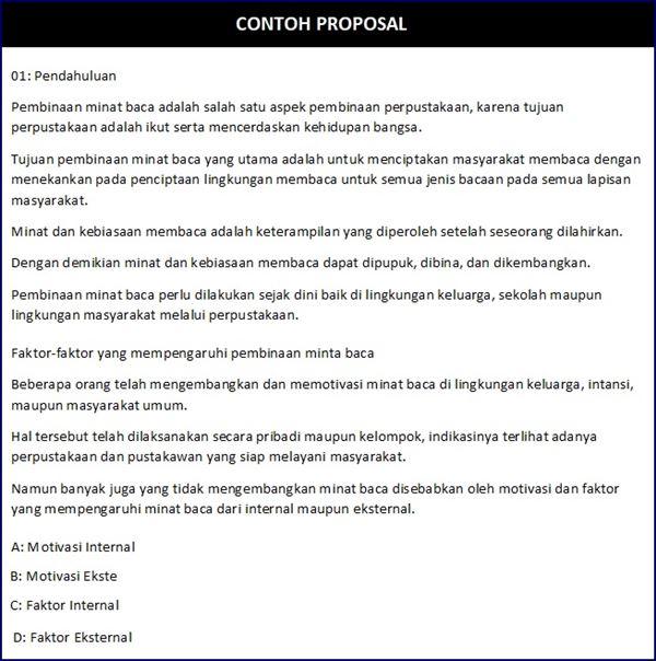 Pendahuluan Proposal kegiatan