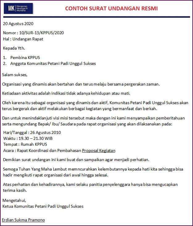 surat undangan resmi organisasi